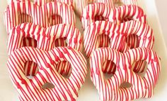 Christmas or Valentine's Day pretzels.