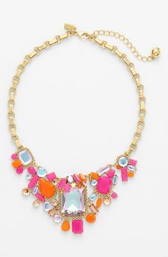 Free shipping and returns on kate spade new york 'tokyo city' frontal necklace at Nordstrom.com. Sherbet-hued stones and iridescent crystals asymmetrically embellish the statement-size centerpiece of this gilded chain-link necklace.