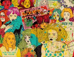 Blog: Colors and Crowded Faces - Doodlers Anonymous