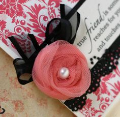 Sincerely Yours - great tulle rose tutorial - must try this!