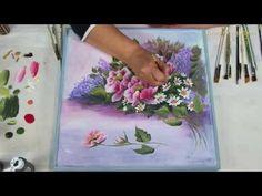 Lienzo composición con anemonas - YouTube