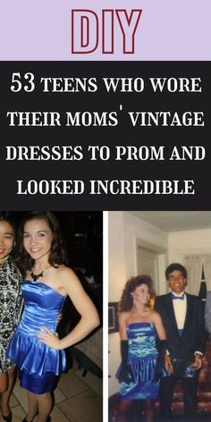Every teenage girl's dream is to have a beautiful prom night. It's one of the most important events for young people, especially for girls. #53teens #vintagedresses #prom #incredible