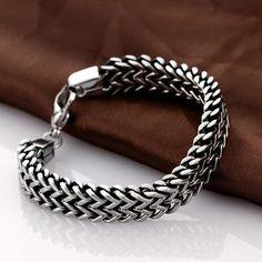 Stainless Steel Double Side Snake Chain Bracelet - Project Yourself Silver Bracelets, Bracelets For Men, Link Bracelets, Bangle Bracelets, Silver Ring, Bracelet Men, 925 Silver, Silver Earrings, Sterling Silver