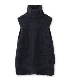 ビッグタートルベスト(ニット/セーター) DRESSTERIOR(ドレステリア)のファッション通販 - ZOZOTOWN