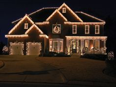 christmas house decorations simple - Google Search