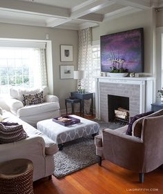 Elegant My Plum Infused Living Room