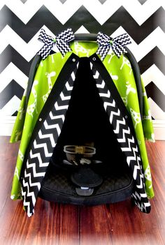 GIRAFFE carseat canopy car seat cover black by JaydenandOlivia - Might need something like this for the winter. @Amber Guernsey  @Donna Burton