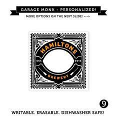 Custom designed and printed waterproof vinyl beer labels for Custom beer labels and caps