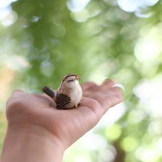 Little bird. Miniature ceramic.