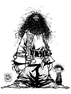 #DailySketch Hagrid and Harry Original sketch available in my shophttp://skottieyoungstore.bigcartel.com