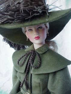 Tonner original American Model Audrey as Garbo's Queen Christina in a period costume by Sandy James