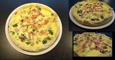 DIY quiche heerlijk! spinazie,spek en ham easy breazy!