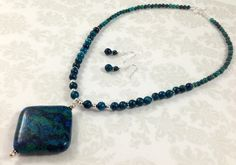 Stunning Sapphire Australian Jasper and by TheBeadtiqueJewelry, $52.00