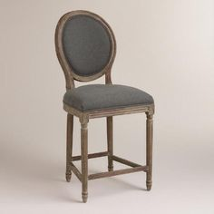 One of my favorite discoveries at WorldMarket.com: Charcoal Linen Paige Counter Stool