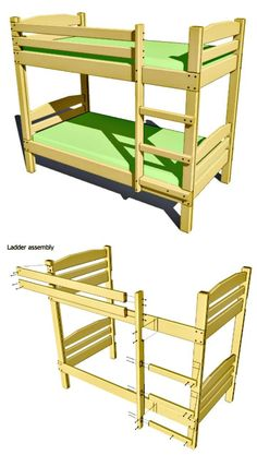 Bunk Bed Plans Except Will Use 4x4 Post In 2019 Bunk Bed