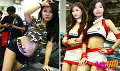 Race queens and fast cars at Tokyo Auto Salon