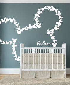 Wall Decal Art Decor Mickey Mouse Baby Name Wall by HappyWallz This would be really cool http://@Angie Wimberly Wimberly Wimberly Reay