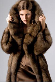Bargouzine brown sable coat