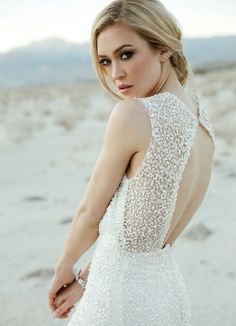 Love the back of this Sarah Seven dress!