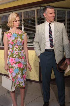 Betty Draper flower print dress & Kelly bag. Where can I get this dress?