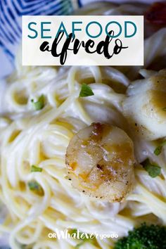Traeger Seafood Alfredo | Delicious dinner that is fancy but SO EASY