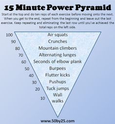 15 Minute Power Pyramid - full-body workout with no equipment needed!