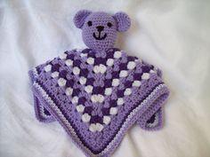 LOVE!!!!!! Crochet Bear Snuggle Buddy Blanket Toy by CrochetByJulia on Etsy, $15.00