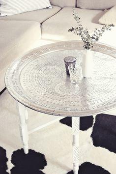 marrocan table tray silver