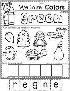 Color Worksheets - Planning Playtime