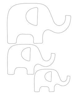 elephant template for cake - Google Search