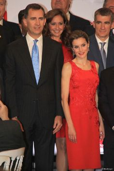 Spanish Crown Prince Felipe and Crown Princess Letizia attends a dinner hosted by the Chamber of Commerce in Seville, Spain, on 20.05.2014.