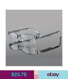 229755db43c7 Eyeglass Frames Men s Eyeglass Frames Metal Half Rimless Eyewear Frames  Glasses Cj-2387 Black  ebay  Fashion