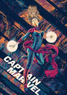 Captain Marvel Poster - Amaury Filho Marvel Tumblr, Marvel Memes, Most Powerful Avenger, Disney 5k, Bucky Barnes Captain America, Captain Marvel Carol Danvers, Love Posters, Film Posters, Scott Pilgrim