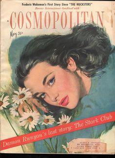 Cosmopolitan magazine, MAY 1947 Artist: Coby Whitmore Vintage Girls, Vintage Love, Vintage Beauty, Vintage Ads, Vintage Images, Vintage Posters, Vintage Fashion, Life Magazine, Magazine Art