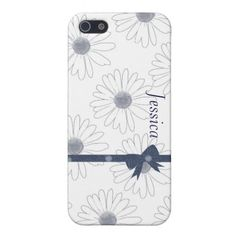 Blue and White Daisies iPhone 5 Covers