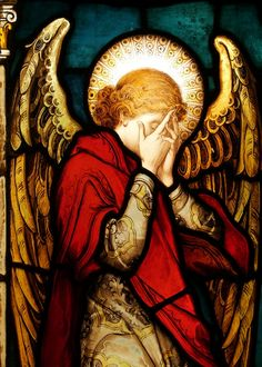 - Angel Located in one of the side Chapels at the Parish Church in Fethard, Co. Tipperary is this stained glass window of a weeping angel. Stained Glass Church, Stained Glass Angel, Stained Glass Windows, Angels Among Us, Angels And Demons, Guardian Angels, Angel Art, Sacred Art, Religious Art