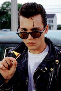 Johnny Depp in a publicity photo for John Waters' Cry-Baby (1990)