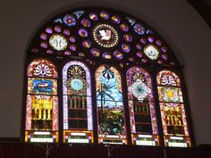 The beautiful stained glass windows of the Mother Bethel A.M.E. Church dates from 1889.