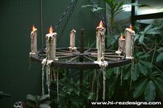DIY Flicker Candles from PVC Pipes - make a chandelier