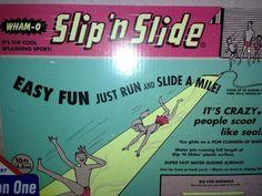 Slip n slide via Ellis Harmon Slip N Slide, Ol Days, Design Museum, Crazy People, Good Ol, Growing Up, Sunday, Surface, Vans