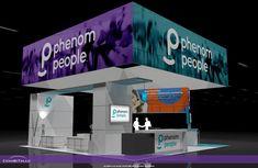 PHENOMPEOPLE – 30×30 Custom Trade Show Exhibit Rental Display Design, Trade Show, Exhibit, People, Poster, Movie Posters, Folk