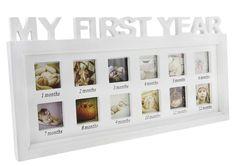 Emwel Baby Hand Print Kit Newborn Picture Frame Keepsakes Frames for Registry Memorable Keepsakes Decorations Wood Frames with Safe Clay
