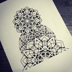 ⭐️ #mandala#dotwork#geometry#misssita#misssitatattoo#sleeve#sacredgeometry  (presso One O Nine)