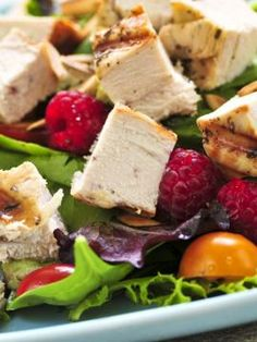Grilled Chicken and Raspberry Salad