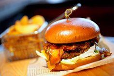"LEGANDÁRNÍ BURGER ""1869"" Hamburger, Menu, Ethnic Recipes, Food, Menu Board Design, Essen, Burgers, Meals, Yemek"