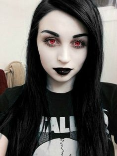 Dark Fashion, Gothic Fashion, Pretty Hairstyles, Girl Hairstyles, Gothic Culture, Straight Lace Front Wigs, Goth Beauty, Edgy Hair, Metal Girl