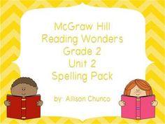 2nd Grade Reading Wonders Spelling Pack_Unit 2 $5