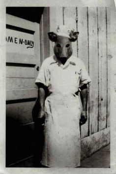 21 Vintage Halloween Costumes That Will Make Your Skin Crawl  .the town butcher.