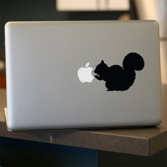 Squirrel Decal - Vinyl Sticker - For Car, Window, Laptop, Wall , Brown, Grizzly. $6.95, via Etsy.