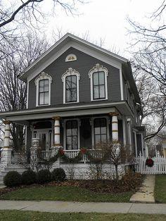 Dark Gray Victorian House by hannibal1107, via Flickr